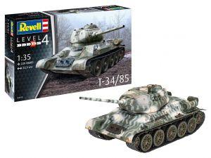 Revell 03319 Tanque T-34/85 - 1/35 Kit Para Montar