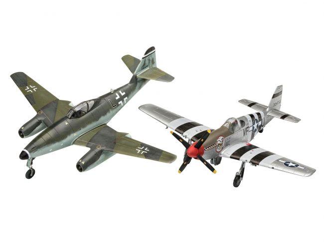 Revell 03711 Messerschmitt Me262 & P-51b Mustang 1/72 Kit Para Montar