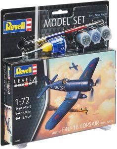 Revell 63917 F4U-1B Corsair Royal Navy - 1/72 Model Set Kit Para Montar