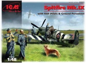 Spitfire Mk.IX with RAF pilots & ground personnel - 1/48  ICM kit Para montar