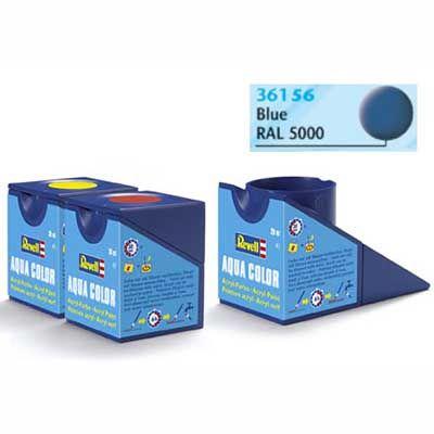 Tinta Revell 36156 Aqua Color -  Blue Mat - 18ml
